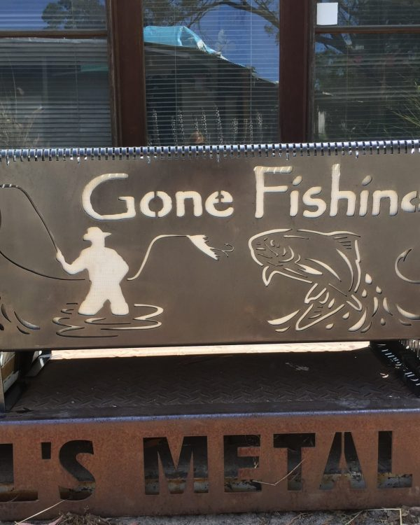 Gone Fishing Fire Pit